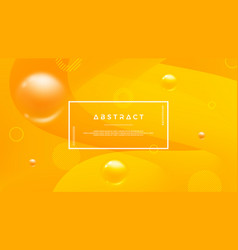 orange abstract background with a dynamic liquid vector image