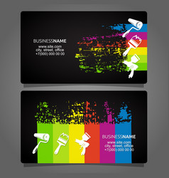 painting business card concept vector image
