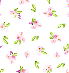 Pattern with little pink flowers vector