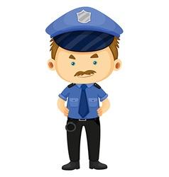 Policeman in blue uniform vector image vector image