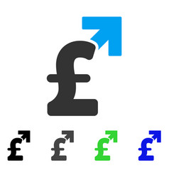 pound growth flat icon vector image