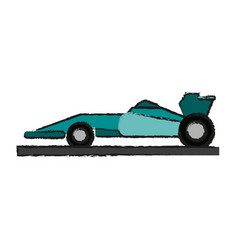 Race car draw vector
