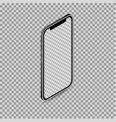 Realistic 3d isometric smartphone isolated on vector