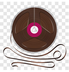 realistic magnetic tape reel vector image