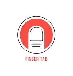 Red and black finger tab emblem vector