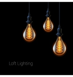 Retro light bulb vector