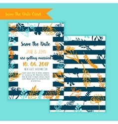 Save the date rustic vintage card wedding vector image