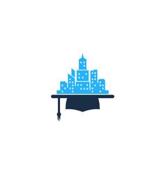 school town logo icon design vector image