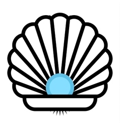 Sea shell icon vector image