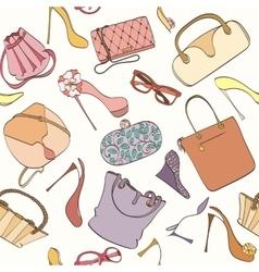 Seamless bag pattern vector image
