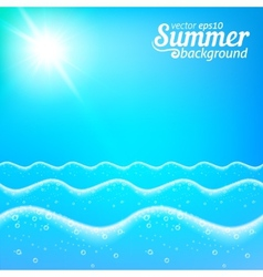 Seascape seamless line background vector