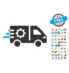 Service Car Icon With 2017 Year Bonus Symbols vector