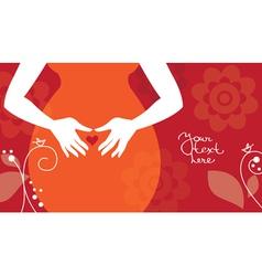 Silhouette pregnant woman vector