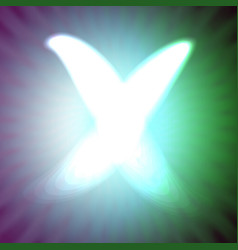 single light blue neon letter x of vector image