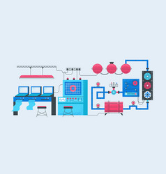 smart factory concept modern industrial vector image