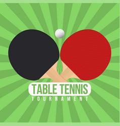 Table tennis tournament badge design ping pong vector