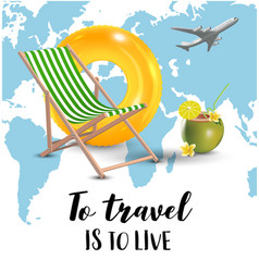 Traveling world map airplane isolated vector