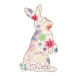 Vintage rabbit vector