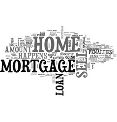 What happens to my mortgage when i sell my home vector