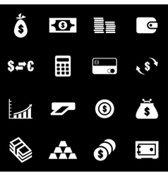 white money icon set vector image