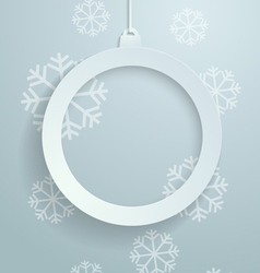 White Paper Christmas Ball with Snowflakes vector