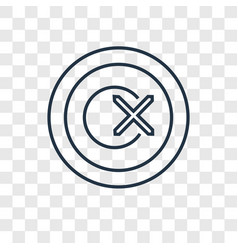 wrong concept linear icon isolated on transparent vector image