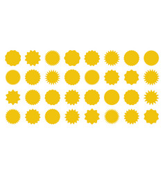 yellow shopping labels collection sale or vector image