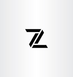 Z letter icon sign black symbol vector