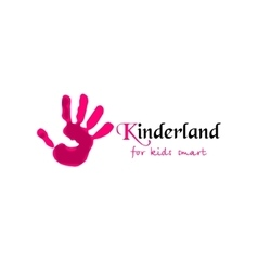 Colorful Hand print Kinderland vector image