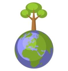 Earth globe set 004 vector image vector image