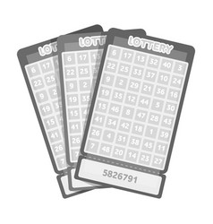 lottery tickets chance to win the jackpot vector image vector image