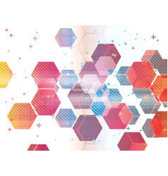 abstract background with technology shapes vector image vector image