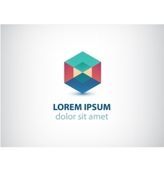 abstract geometric colorful crystal logo vector image vector image
