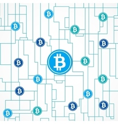 Bitcoin global business concept vector image