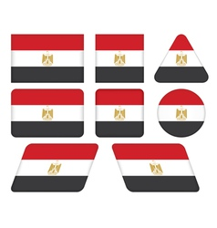 buttons with flag of Egypt vector image vector image