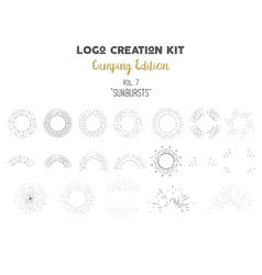 Logo creation kit bundle Camping Edition set vector image