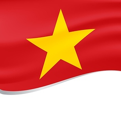 Waving flag of Vietnam isolated on white vector image vector image