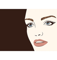 Background with silhouette beautiful woman vector image