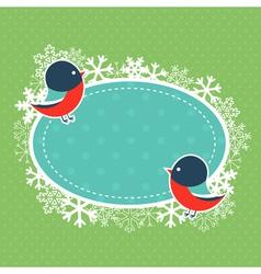 Cute winter invitation xmas card vector image