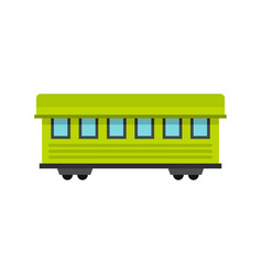 passenger train car icon flat style vector image