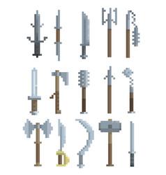 pixel art weapon vector image