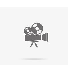 Retro movie camera vector image