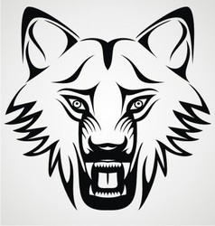 Wild Wolf Tribal vector image vector image
