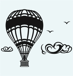 Hot air balloon in the sky vector image vector image