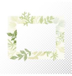 rectangular floral frame ornament vector image vector image