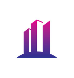 skyscraper business finance logo vector image vector image