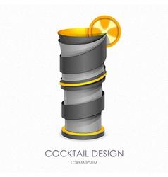 3D cocktail design icon vector