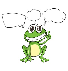 A small frog with empty callouts vector