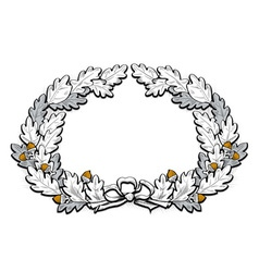 Acorn frame border vector