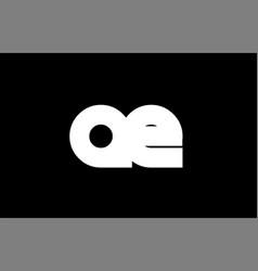 Ae a e black white bold joint letter logo vector